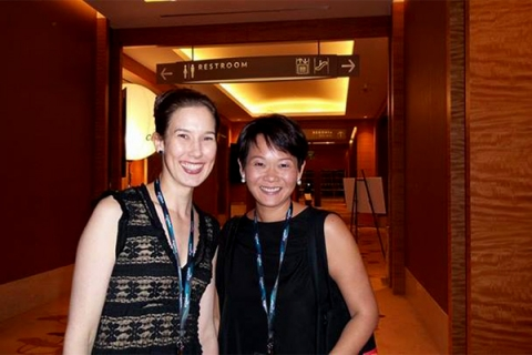 With Michele Schofield, vice-president, programming and marketing, A&E Networks Asia.